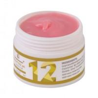 Gel UV pentru constructii unghii No.12 FSM, 15 g, Cover Rose
