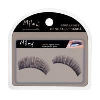 Gene false cu banda 03 Miley, 11 mm, par sintetic, lipici inclus, Negru