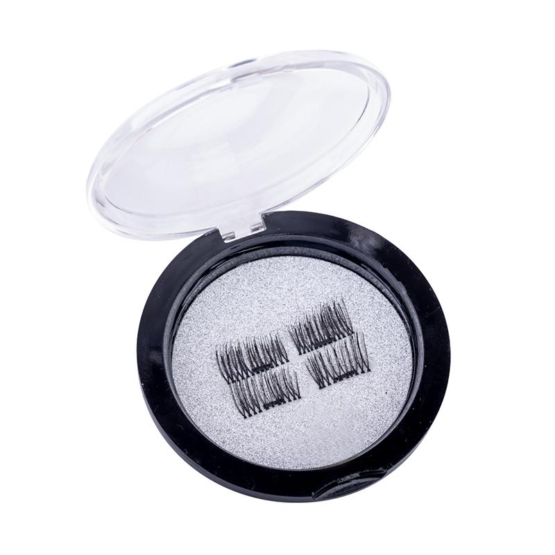 Gene false cu magnet Lidan, peri artificiali, model 05, Negru 2021 shopu.ro