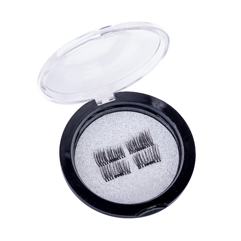 Gene false cu magnet Lidan, peri artificiali, model 07, Negru 2021 shopu.ro