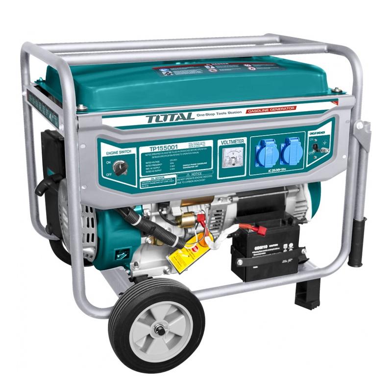 Generator benzina Total, 5500 W, 3000 rpm, 25 l, motor 4 timpi, alternator cupru 2021 shopu.ro