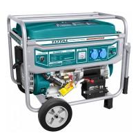 Generator benzina Total, 5500 W, 3000 rpm, 25 l, motor 4 timpi, alternator cupru