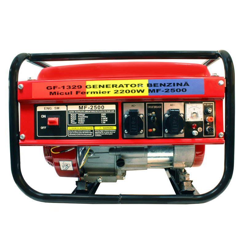 Generator pe benzina Micul Fermier, 2200 W, 163 CC, 4 CP, autonomie 6 ore, tehnologie AVR 2021 shopu.ro