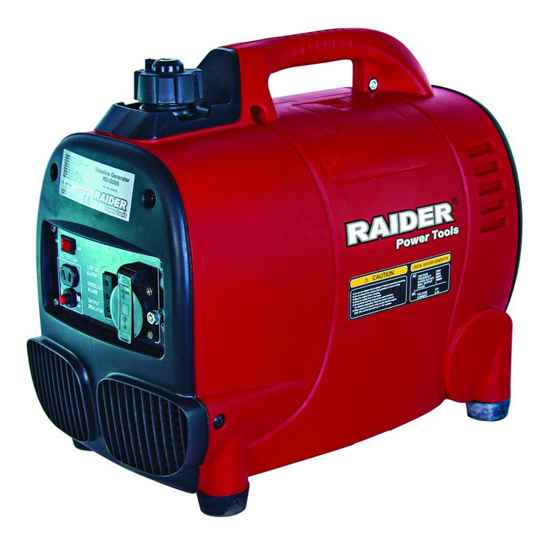 Generator pe benzina tip invertor Raider RD-GG05, 1 kW, 53.5 CC, motor 4 timpi, rezervor 2.3 l 2021 shopu.ro