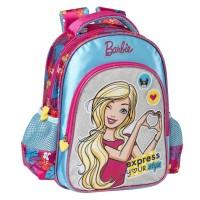 Ghiozdan fetite Barbie, 35 x 45 x 12.5 cm, Multicolor