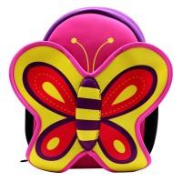 Ghiozdan fetite, 31 cm, model fluture