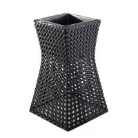 Ghiveci din plastic 221-0707-M, negru, 38 x 38 cm