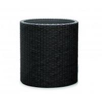 Ghiveci din plastic Curver, pentru exterior, D 36 cm, negru