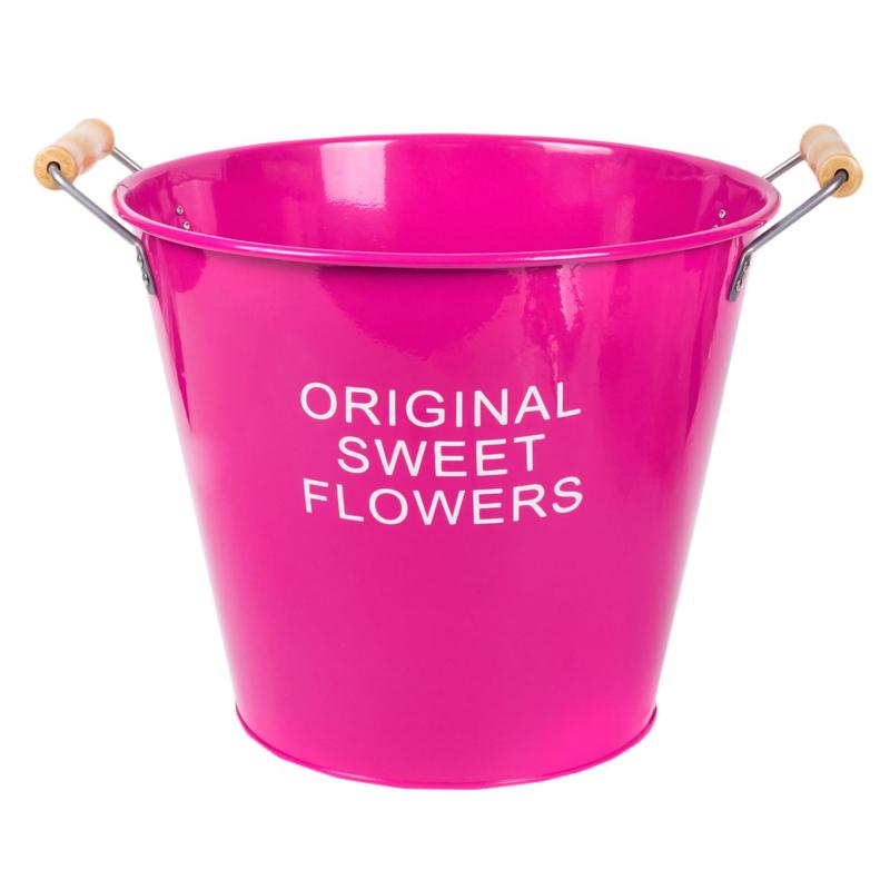 Ghiveci metalic Original Sweet Flower, 30 x 25 cm, Roz 2021 shopu.ro