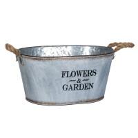 Ghiveci metalic flori Flowers Garden, 43 x 19 cm