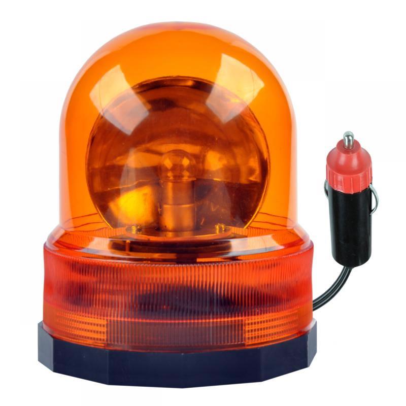 Girofar cu semnal luminos rotativ URZ0070, alimentare 12 V, portocaliu