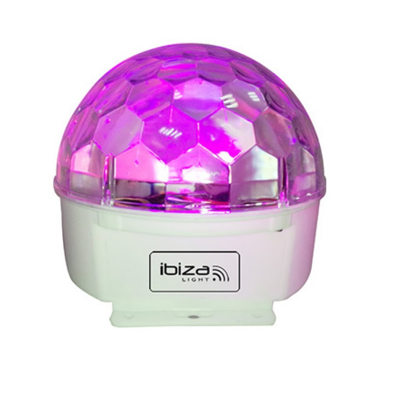 Glob cu lumini Ibiza Astro Led, 9 culori, telecomanda 2021 shopu.ro