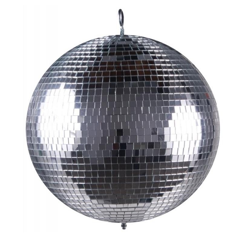 Glob disco pentru petreceri Mirror Ball, diametru 40 cm, Argintiu 2021 shopu.ro
