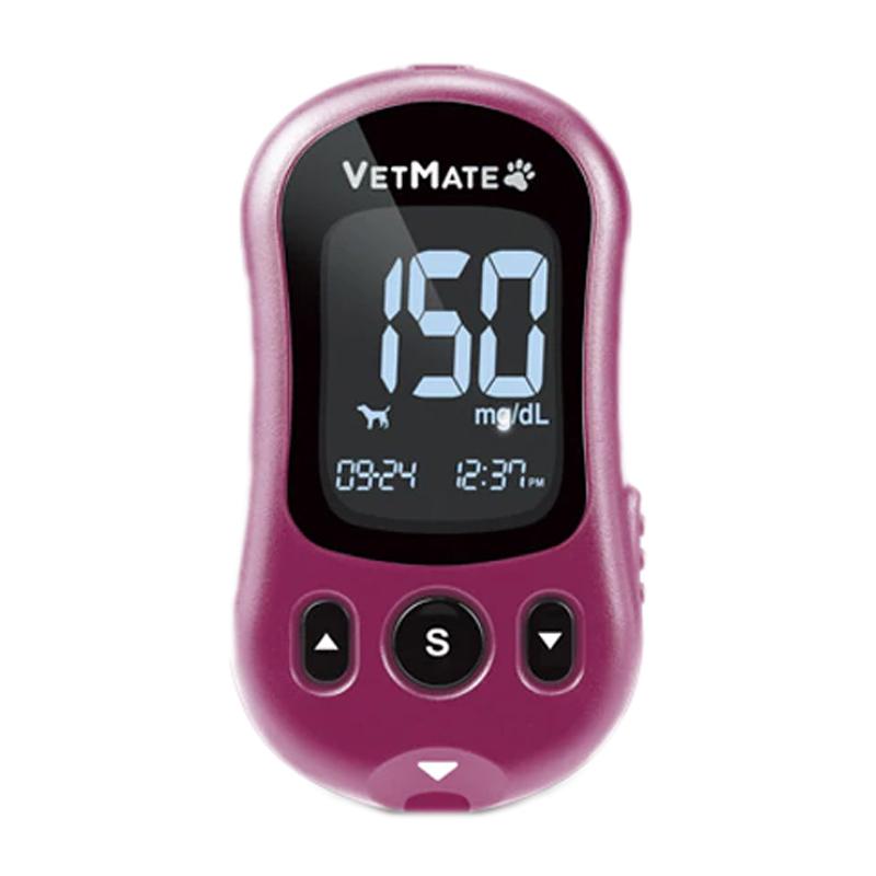Glucometru VetMate, 10-600 mg/dL, rezultat 5 secunde, ecran LCD, 100 teste, 100 ace incluse 2021 shopu.ro