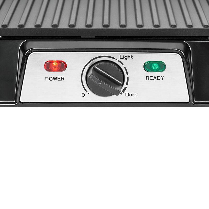 Gratar electric Teesa, 1500 W, termostat reglabil, tava scurgere