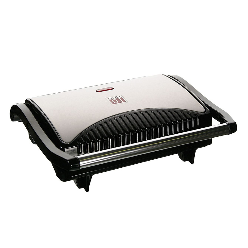 Gratar tip grill Digi 0.1, 700 W, LED, Argintiu/Negru 2021 shopu.ro