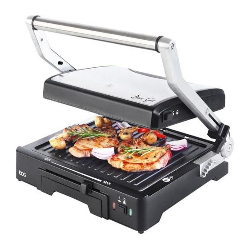 Gratar tip grill ECG Deluxe, 2000 W, 3 tipuri de gatire, tava detasabila 2021 shopu.ro