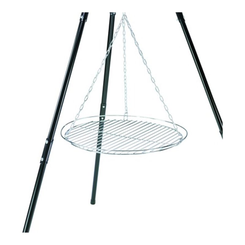 Gratar cu lant pentru tripod, 50 cm, metal, Argintiu shopu.ro