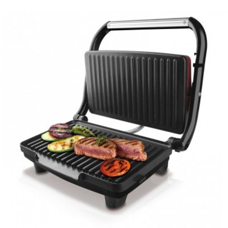 Sandwich Maker Grill & Co Taurus, 1500 W, 28 x 17 cm, LED, Grena