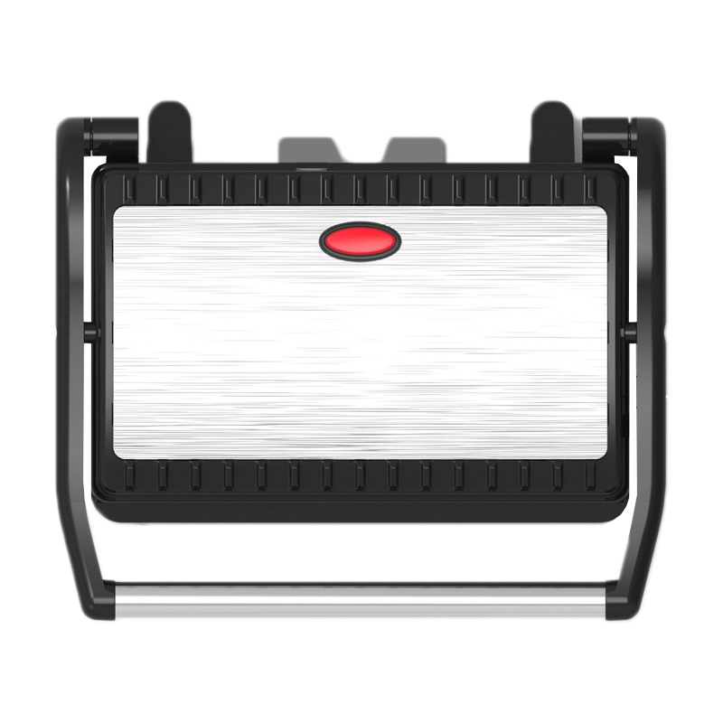 Grill electric Sapir, 750 W, temperatura reglabila, Argintiu/Negru 2021 shopu.ro