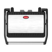 Grill electric Sapir, 750 W, temperatura reglabila, Argintiu/Negru