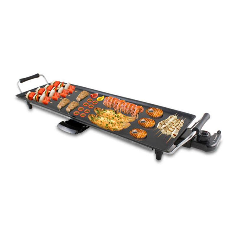 Grill electric Teppanyaki XXL Beper, 1800 W, 70.5 x 23.5 cm, termostat 2021 shopu.ro
