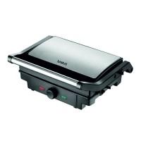 Grill toaster Samus, 1500 W, reglaj temperatura, maner termorezistent, carcasa termoizolanta, Argintiu
