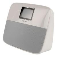 Radio ceas cu alarma Konig, bluetooth, USB, Alb