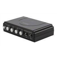 Mixer karaoke Konig, 2 microfoane, efect ecou, Negru