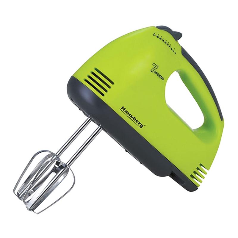 Mixer de mana Hausberg, 250 W, 7 viteze, Verde/Gri 2021 shopu.ro