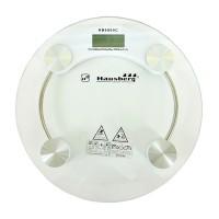 Cantar digital Hausberg, 150 kg, LCD, platforma sticla