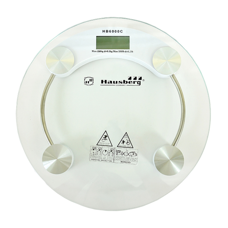 Cantar digital Hausberg, 150 kg, LCD, platforma sticla 2021 shopu.ro