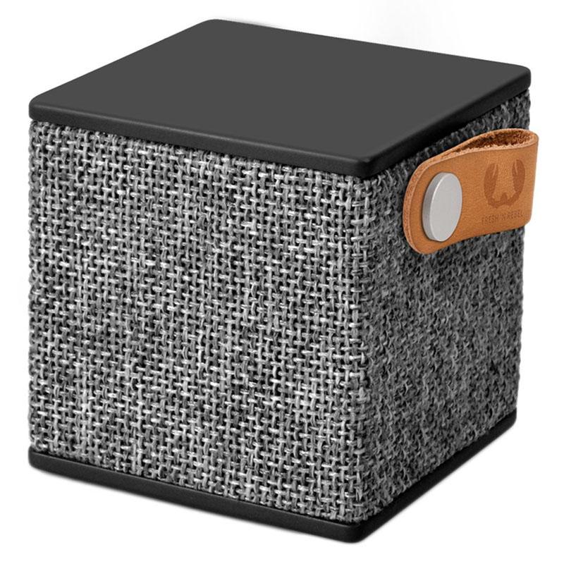 Boxa portabila Rockbox Cube Fabriq Fresh & Rebel, 3 W, 500 mAh, bluetooth, jack 3.5 mm, Negru 2021 shopu.ro