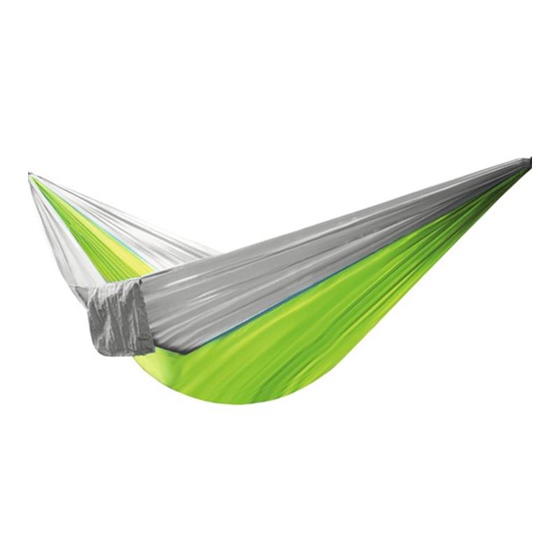 Hamac din nailon, 270 x 140 cm, Gri/Verde 2021 shopu.ro