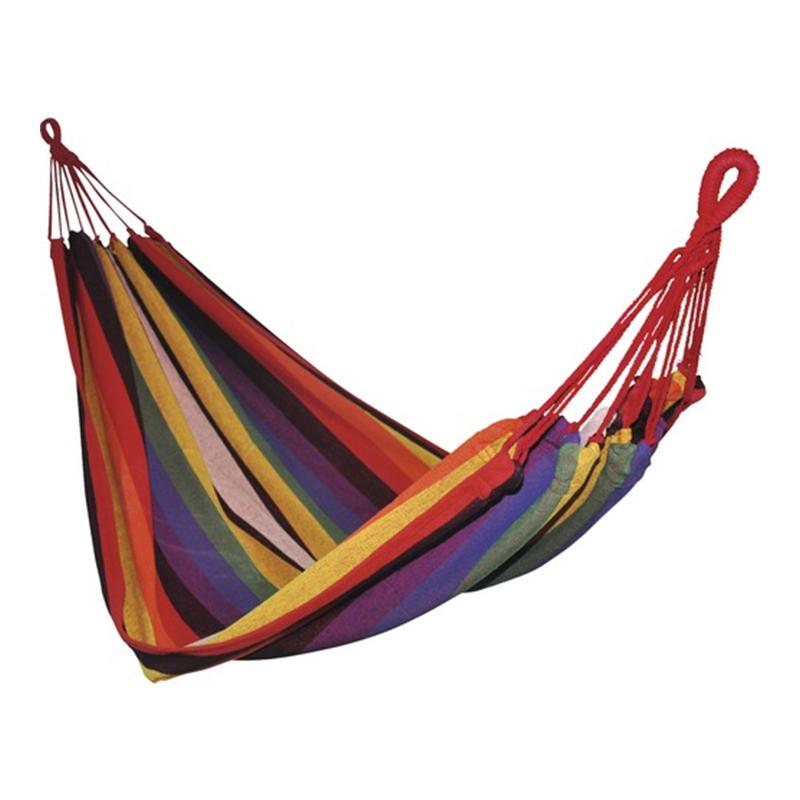 Hamac textil, 200 x 100 x 1 cm, policoton, Multicolor 2021 shopu.ro
