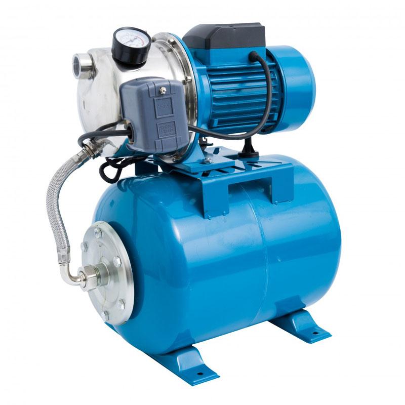 Hidrofor Elefant Aquatic AUTOJS80, 1000 W, 50 l/min, rezervor 24 l, 2.8 bar, inaltime 40 m, adancime 8 m, inox-otel