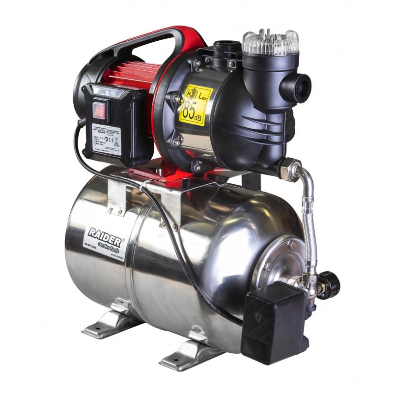 Hidrofor cu rezervor inox RD-WP1300S Raider, 1300 W, iesire 1 inch, 80 l/min, 48 m
