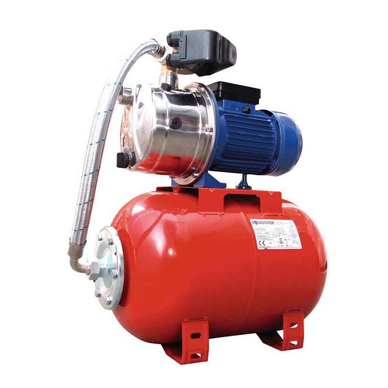 Hidrofor Aqua System, 900 W, 24 l, 4.5 bar, inox, Rosu shopu.ro