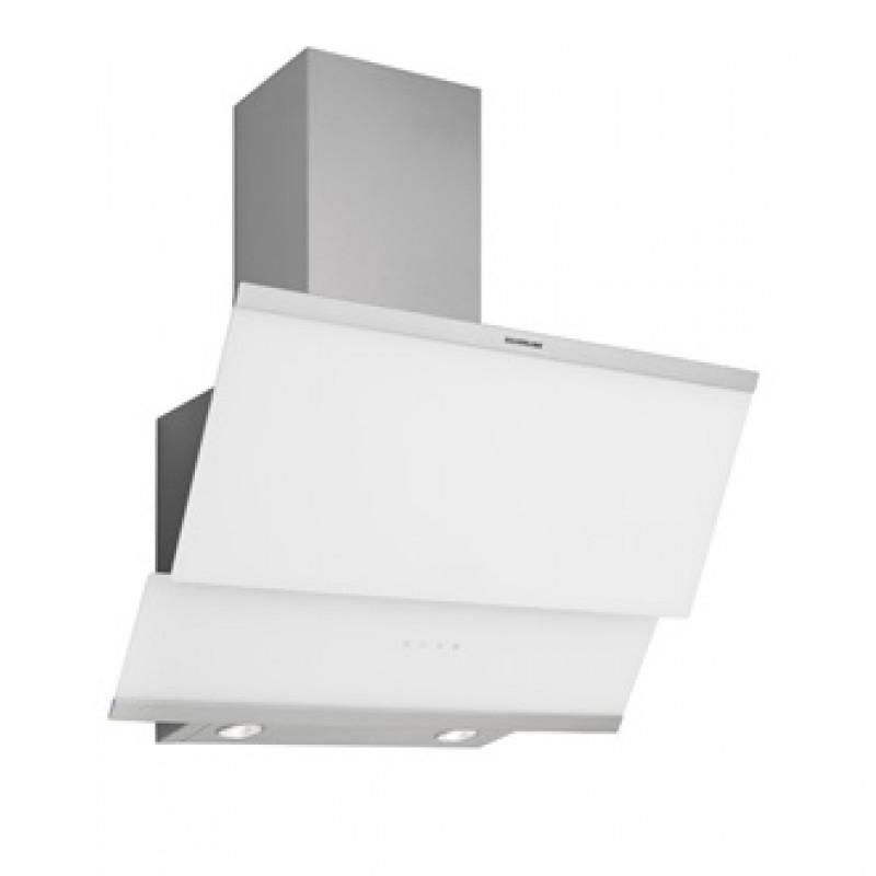 Hota decorativa Moderna Turbo Studio Casa, 124 W, 60 cm, 381 m3/h, rama inox, filtru aluminiu, Alb 2021 shopu.ro