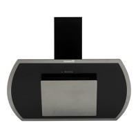 Hota Incorporabila decorativa Hausberg, 650 mc/h, 60 cm, control tactil, filtru aluminiu, Negru