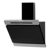 Hota Incorporabila decorativa Hausberg, 650 mc/h, 60 cm, touch control, filtru aluminiu, Argintiu/Negru