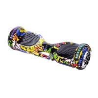 Hoverboard Bluetooth cu boxa Graffiti HR, LED, 20 km/h, suporta maxim 120 kg