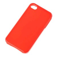 Husa Back Cover Case telefon iPhone 4, Rosu