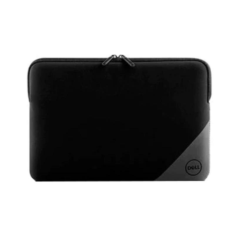 Husa laptop Dell Essential Sleeve, 15 inch, anti-zgarieturi, rezistent la stropire, fermoar, interior captusit, neopren, Negru