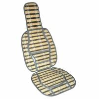 Husa scaun auto cu tetiera si suport lombar, fibre naturale
