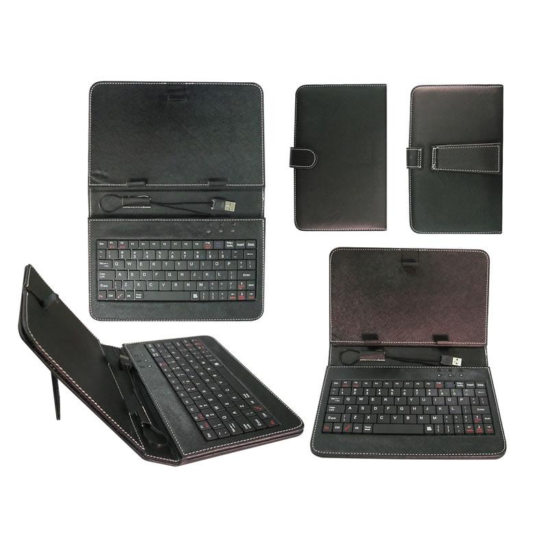 Husa tableta cu tastatura 7 inch, micro USB, neagra