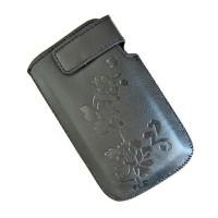 Husa telefon universala, captusita cu material moale, piele eco