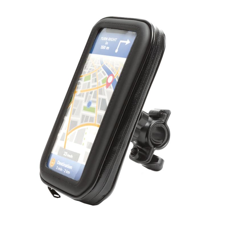 Husa telefon pentru biciclete Wheel Zone, maxim 6.3 inch, suprafata tactila, Negru 2021 shopu.ro