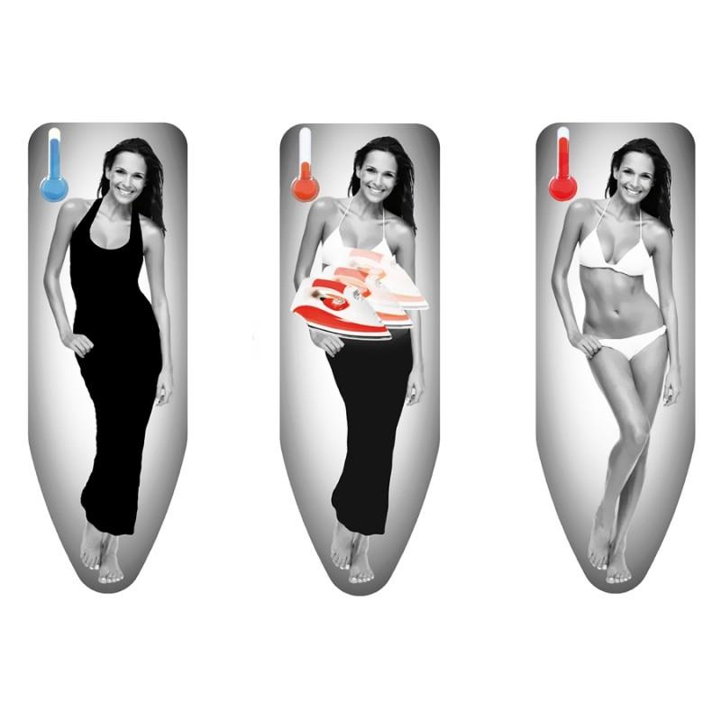 Husa termosensibila pentru masa de calcat Studio Casa, 130 x 50 cm, bumbac, 250 g/m2, model lady shopu.ro