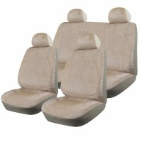 Huse scaune auto RoGroup Luxury, 9 bucati, crem